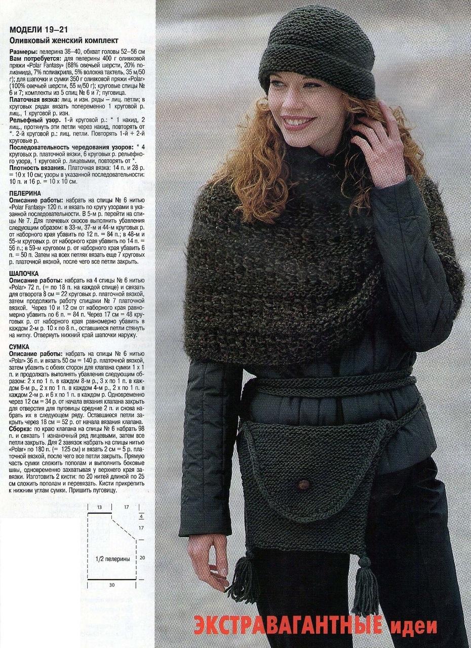 Вязание шапок с отворотом спицами с схемой и описанием