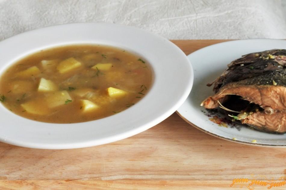 Суп на рыбном бульоне для ребенка