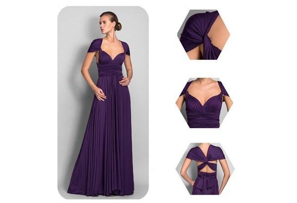 kak-zavyazivat-plate-transformer---iziskannii-rukav Платье трансформер: варианты вечерних платьев. Как сшить платье со съемной юбкой своими руками?