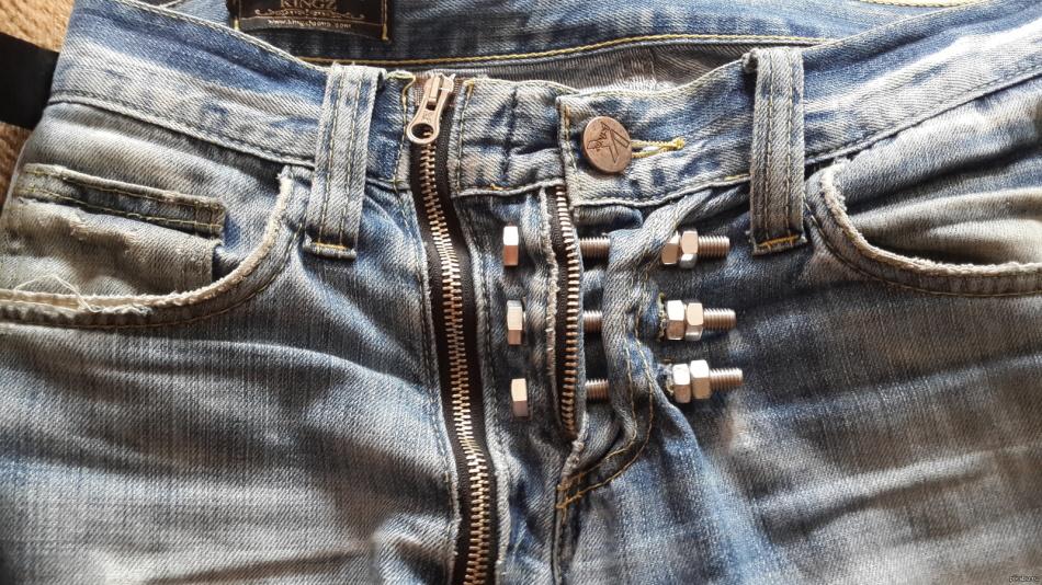 Модель унисекс джинсы