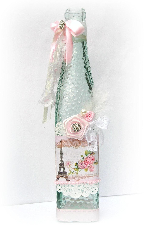 -dekupazh-v-podarok-podklonnicam-francuzskogo-sharma Декупаж бутылки шампанского: свадебные своими руками, пошаговое фото, технику как сделать, МК как украсить