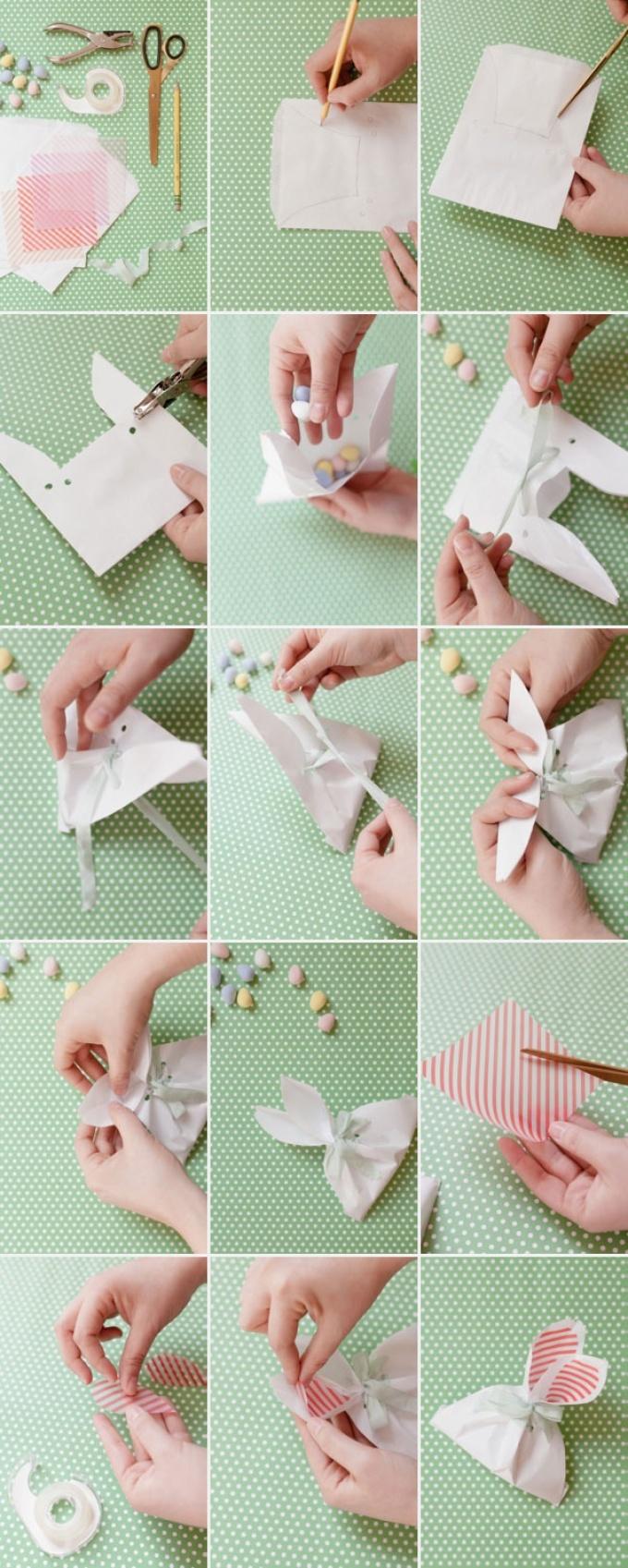vot-po-takoi-sheme-mozhno-sozdat-upakovku-zaichika-dlya-konfet-rossipyu Коробка для конфет своими руками: делаем из бумаги и из картона