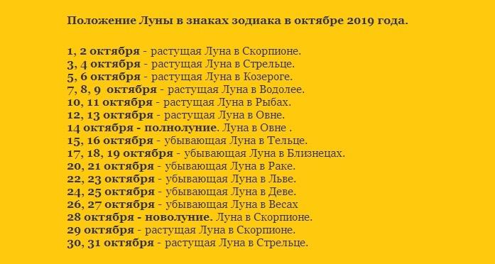 Знаки зодиака в октябре 2019 года для фиалок