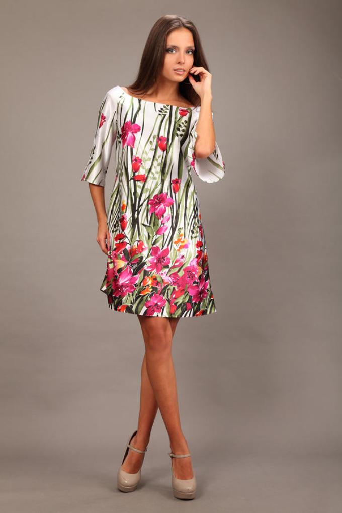 prostoe-shyolkovoe-plate-viglyadit-ochen-milo Как легко сшить простое платье? Как быстро сшить платье на лето своими руками без выкройки из шелка, трикотажа и шифона?