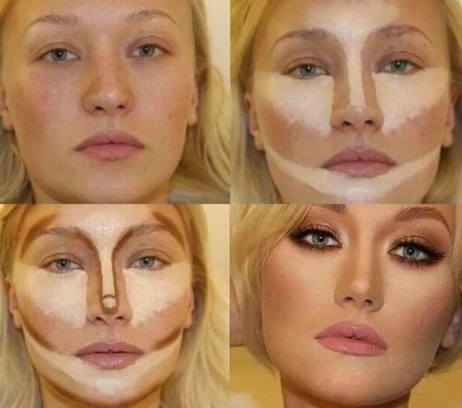 Коррекция морщин макияжем