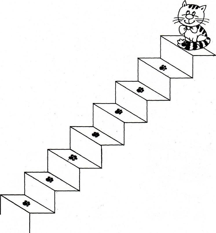 Картинка лестница черно белая