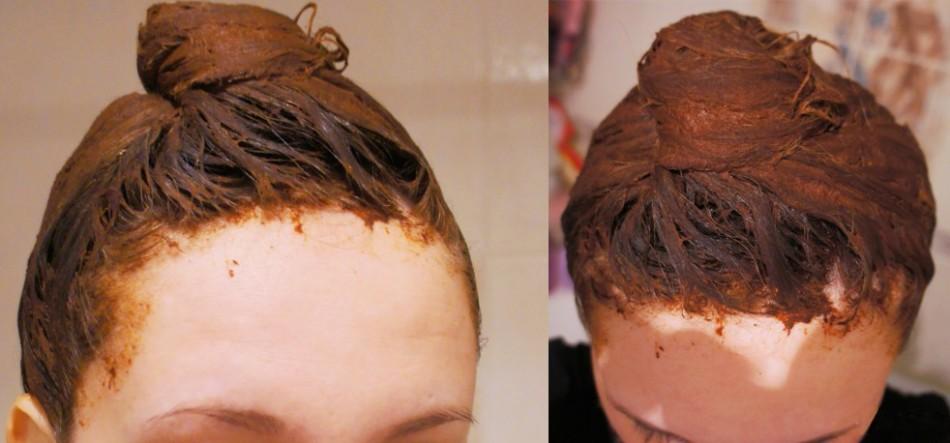 Маска с корицей на волосах