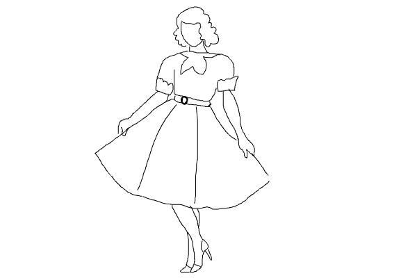 prostoi-risunok-zhenshini-v-odezhde Как рисовать ноги человека? Подробно рассмотрим строение и технику рисования