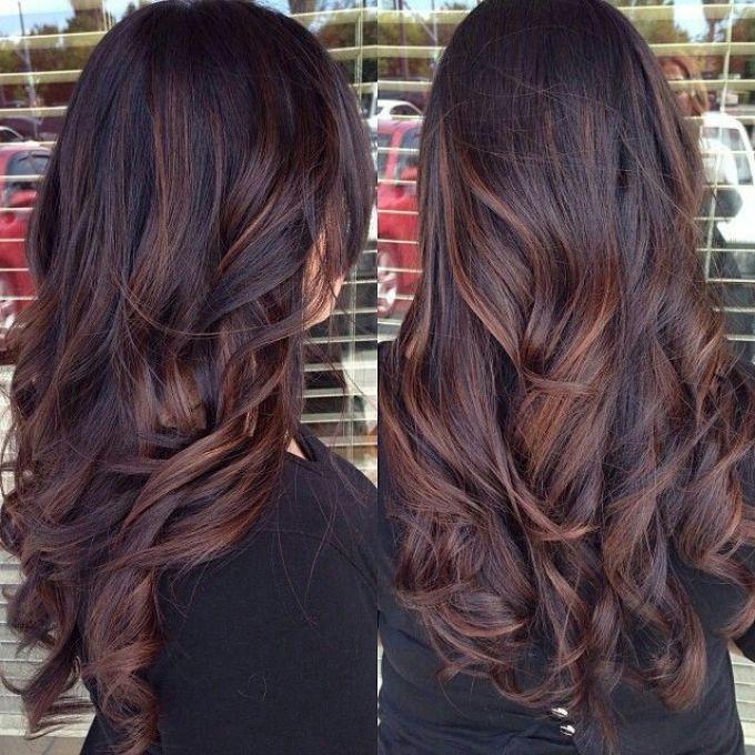 Окрашивание черного цвета волос в каштановый
