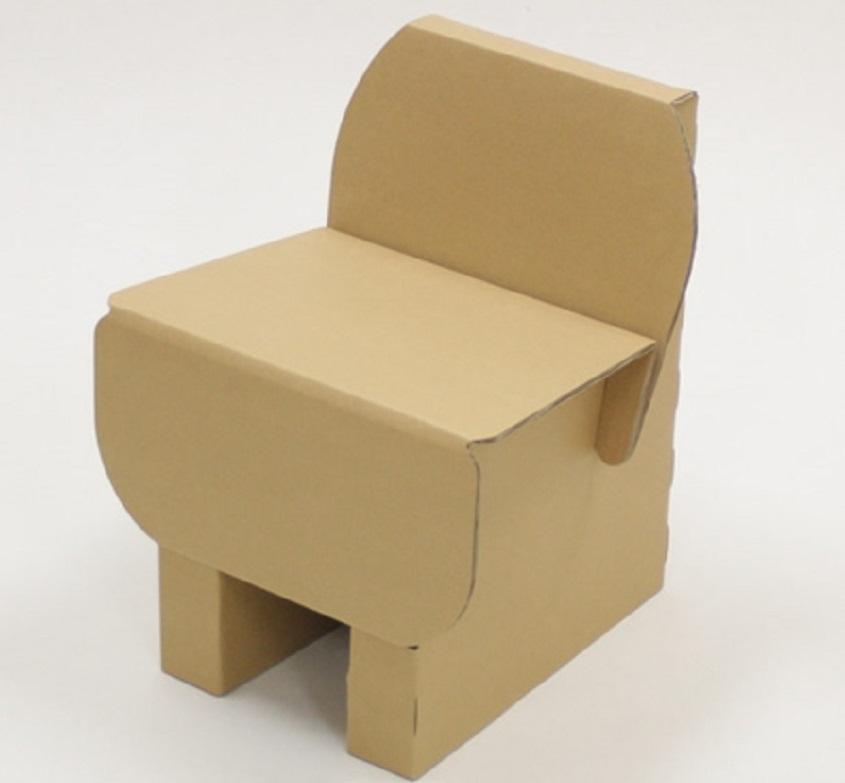 stul-iz-kartona-dlya-kukol Домик и мебель для кукол своими руками из картона: схема, выкройка, фото. Как сделать кровать, диван, шкаф, стол, стулья, кресло, кухню, холодильник, плиту, коляску для кукол из картона своими руками