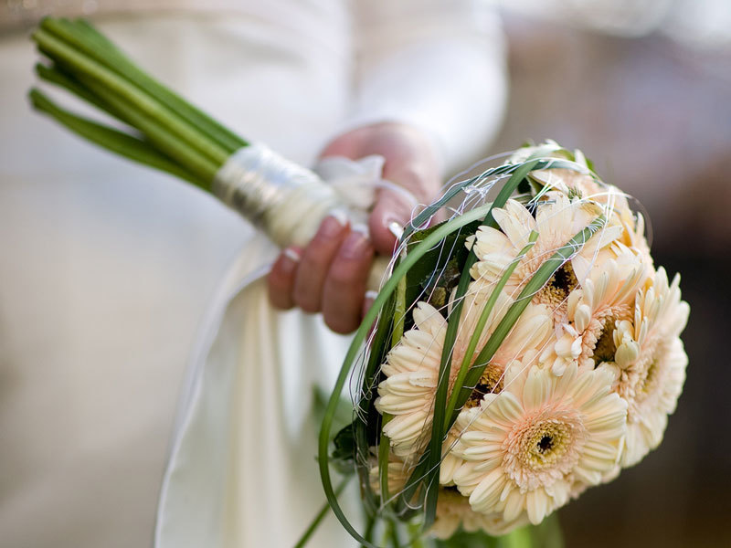 Кемерово, свадебные букет из гербер