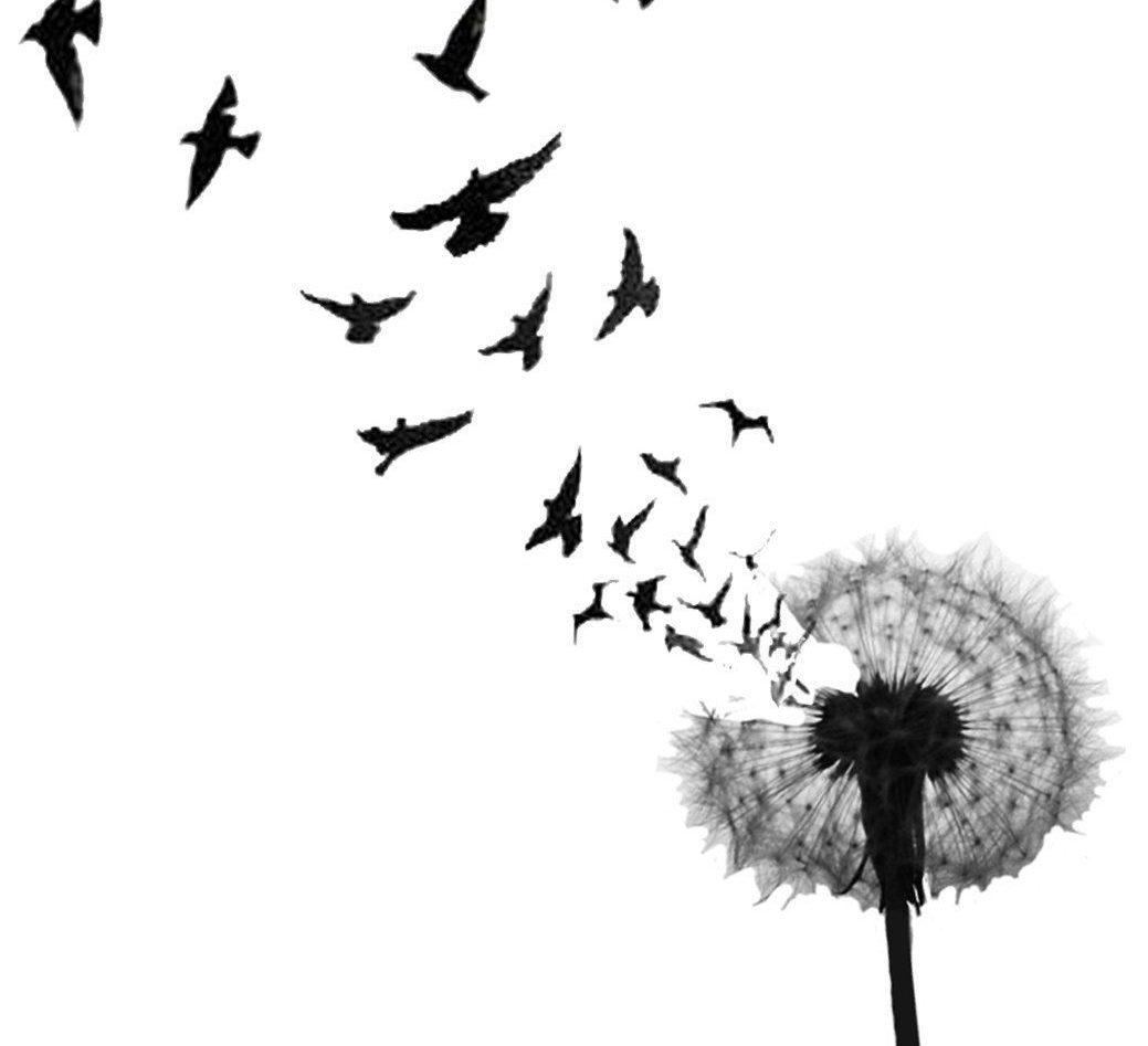 улетающие птицы тату картинка чамашхи вниз