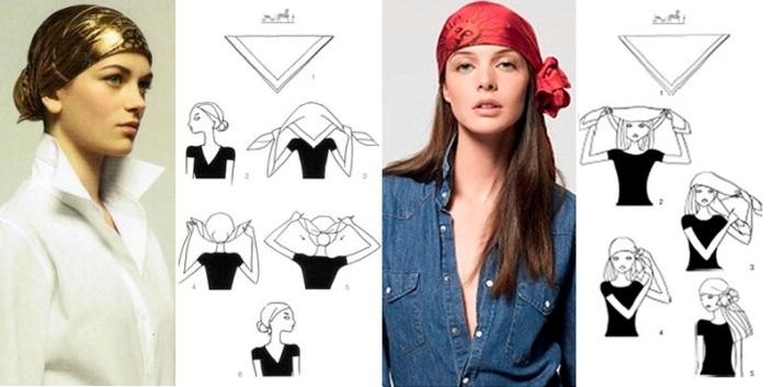 prostota-i-klassika Как красиво завязать на голову шарф разными способами? Как красиво и стильно завязать шарф на голове летом, с пальто, мусульманке?