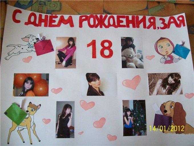 плакат подруге на день рождения фото выражениях иврите