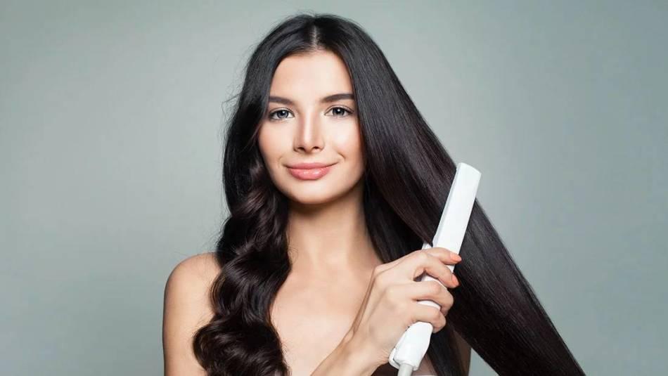 Выровнять волосы