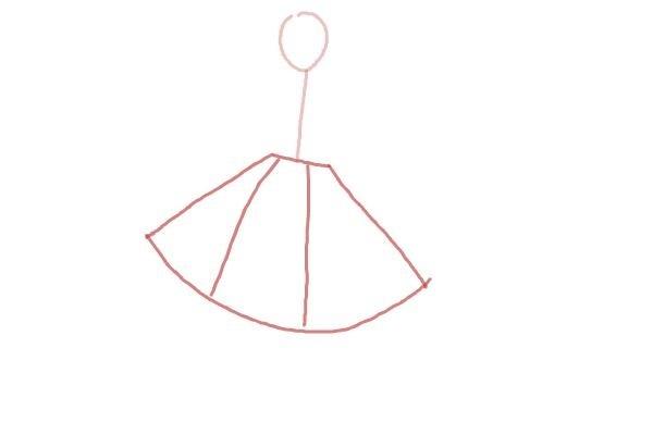 prostoi-risunok-zhenshini-v-odezhde-shag-2 Как рисовать ноги человека? Подробно рассмотрим строение и технику рисования