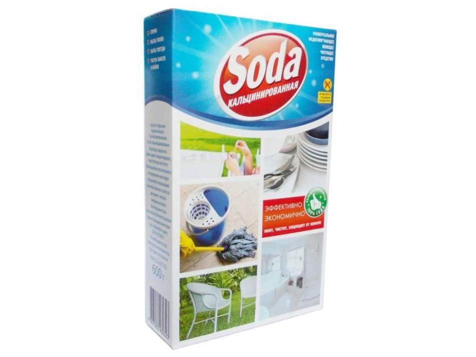Кальцинированная сода - чистка от ржавчины ванной, унитаза