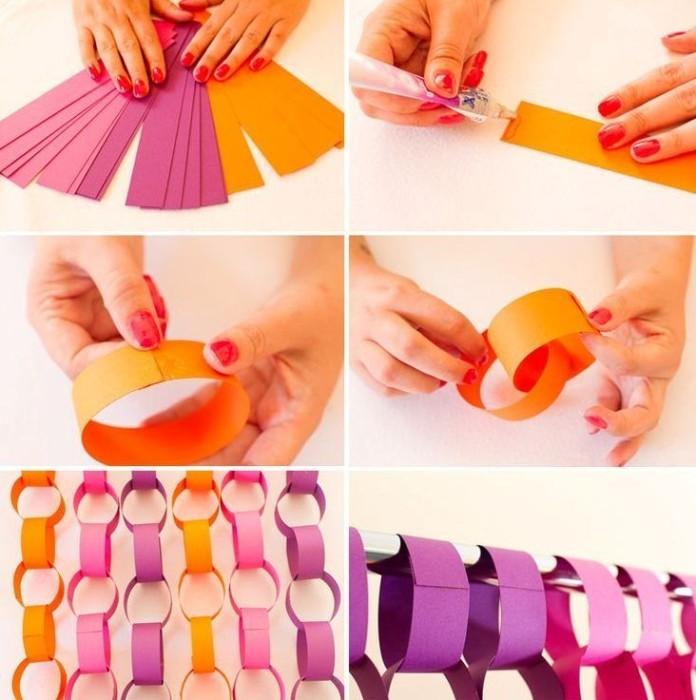 Как делать гирлянду из бумаги?