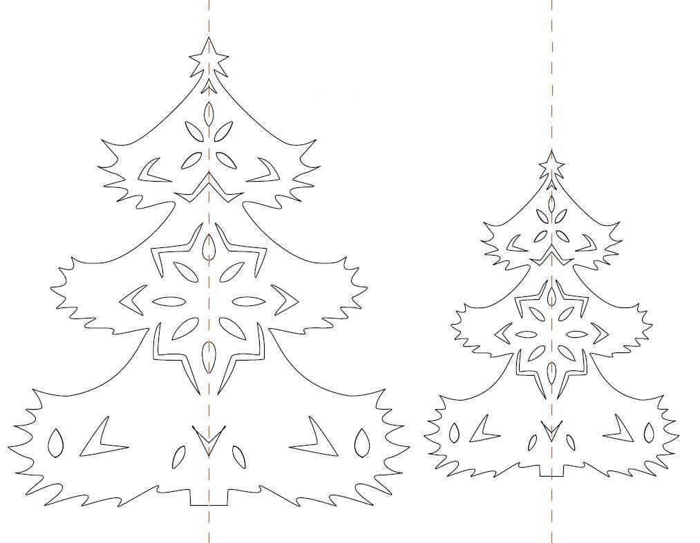 Устройство, картинки новогодней елки для вырезания из бумаги распечатать