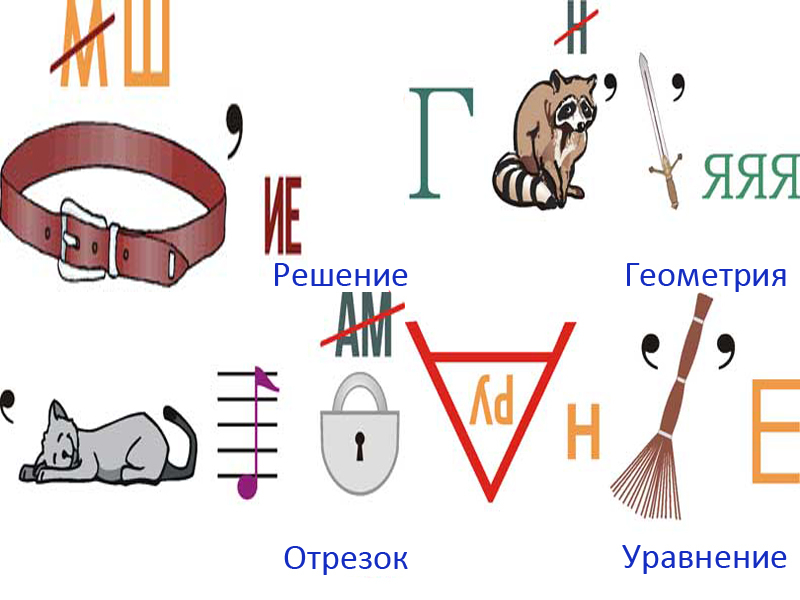 Ребус по геометрии из картинок