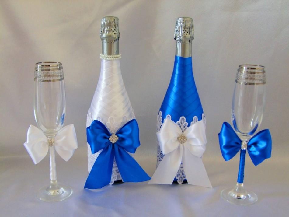 kak-ukrasit-svadebnie-bokali-svoimi-rukami-samostoyatelno-lentami Как сделать свадебную корзину своими руками?