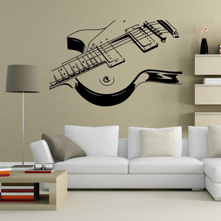 после постер в интерьере с гитарой здесь расположены