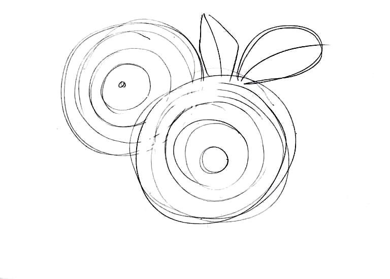 Как нарисовать букет хризантем: работа над наброском