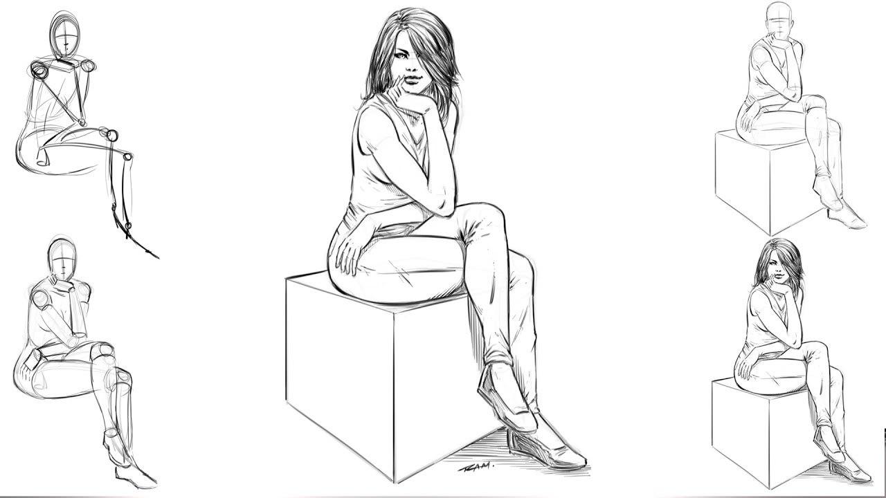 картинка сидящего человечка разрыва