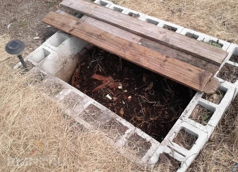 Капитальная компостная яма