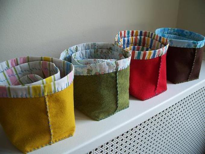 Сумочки для хранения из фетра и ткани