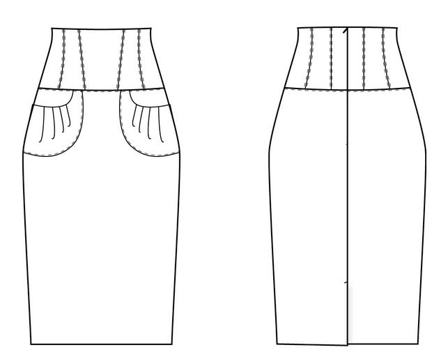 vikroika-yubki-karandash-s-shirokim-poyasom-koketkoi Как сшить летнюю юбку своими руками