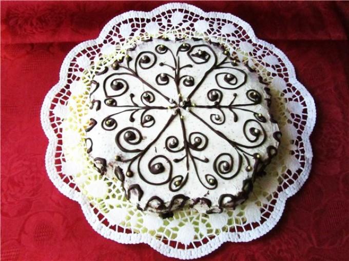 собрали узоры шоколадом на торте пошаговые фото таком