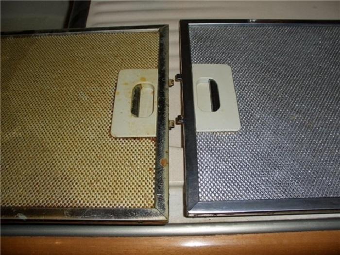 Чистка вытяжки содой: результат до и после
