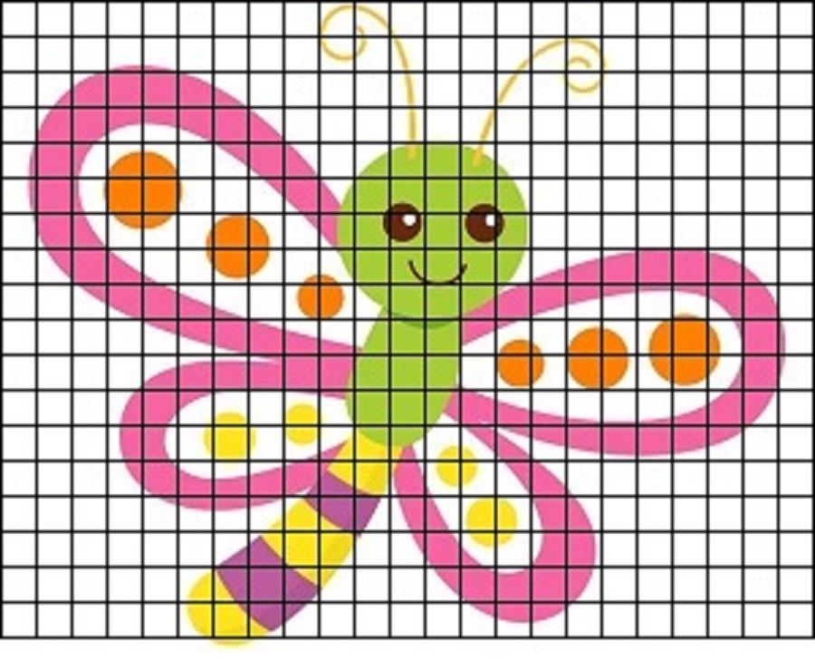 strekoza-dlya-srisovki-po-kletochkam Красивые и легкие рисунки для срисовки карандашом поэтапно для начинающих. Красивые и легкие рисунки по клеточкам для срисовки в тетради и личном дневнике для девочек и мальчиков