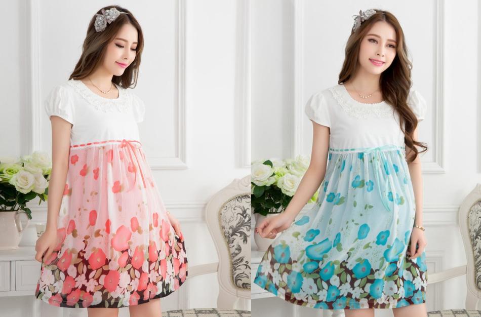 Платья для беременных из ткани с каймой