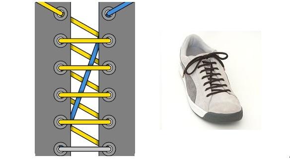 """""""товарная"""" или """"диагональная"""" шнуровка для кроссовок или кед"""