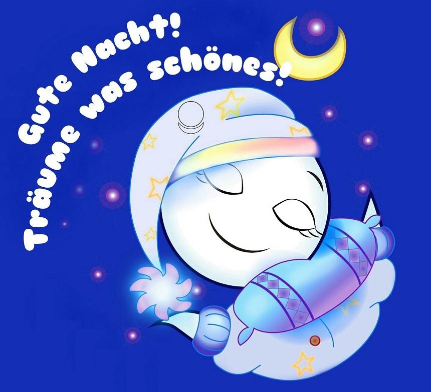 Днем, открытка спокойной ночи на немецком
