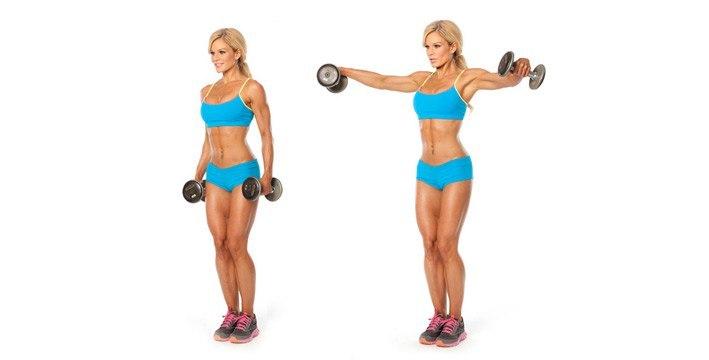Какими упражнениями можно уменьшить грудь? упражнение с гантелями