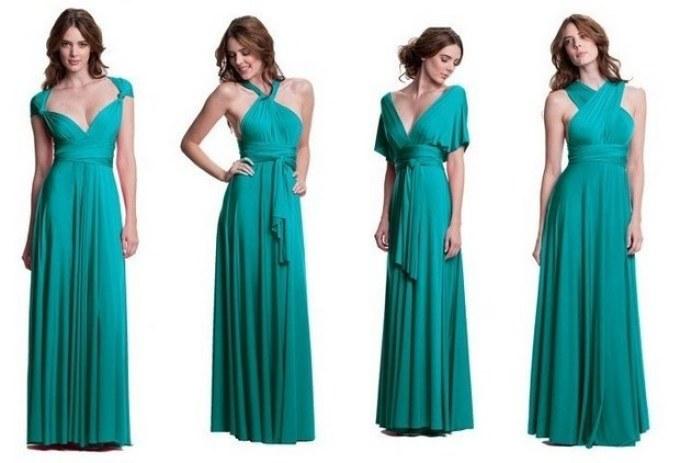 krasivoe-dlinnoe-plate-transformer-v-pol Платье трансформер: варианты вечерних платьев. Как сшить платье со съемной юбкой своими руками?