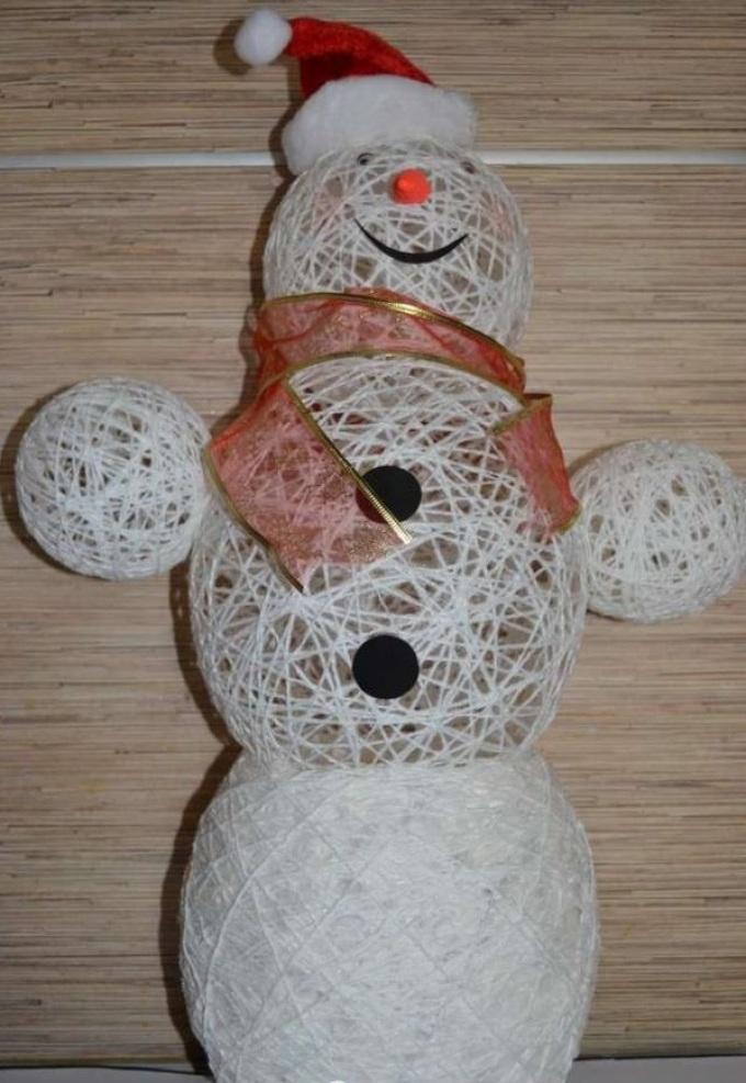 экономии времени снеговик из ниток своими руками пошаговое фото чем суть работы
