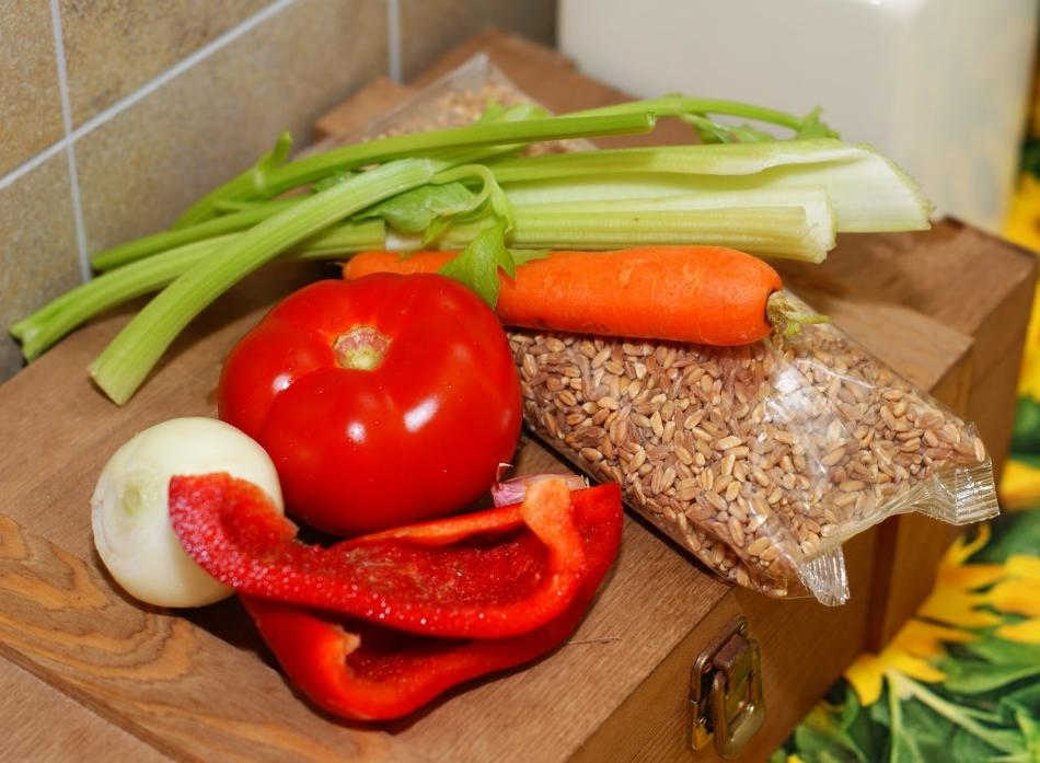 Пшеничная каша полба с овощами