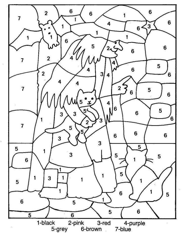 Раскраска по цифрам английский для детей