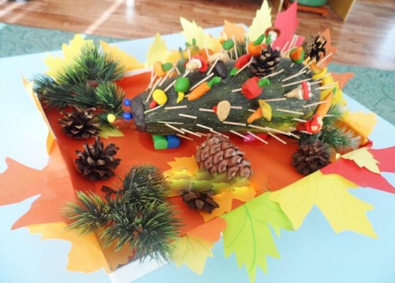 """iz-kabachka Аппликация из крупы для детей на тему """"Осень"""": мастер-класс с фото"""