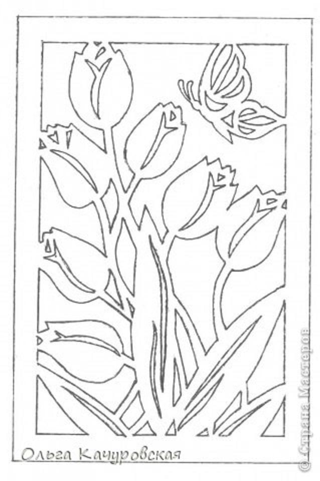 70-летним женщине, вырезные открытки на 8 марта шаблоны