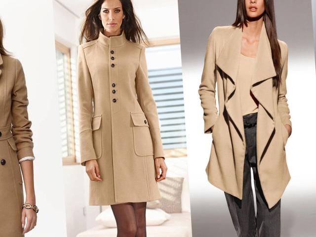 ed6539c585f Как купить женское пальто бежевого цвета в Ламода