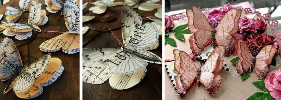 babochki-iz-starih-zhurnalov-po-trafaretam-i-shablonam-na-okna Шаблоны цветов для вырезания из бумаги разных размеров. Бабочки из бумаги своими руками и трафареты для вырезания