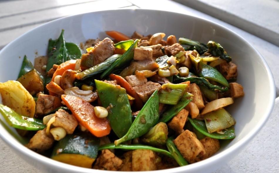 Овощи с тофу