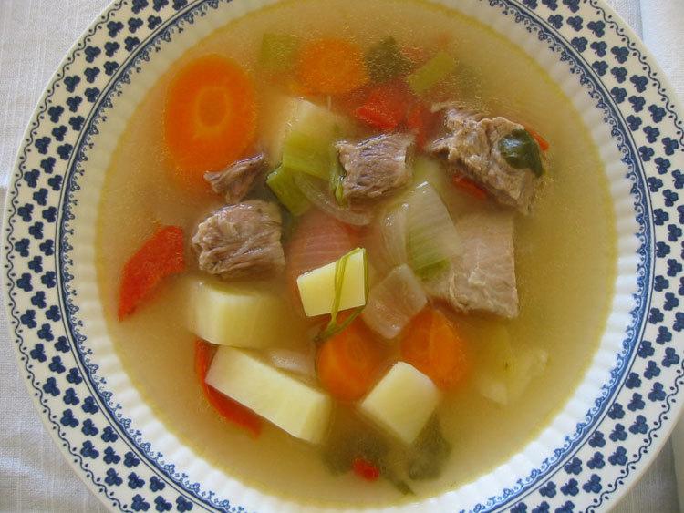Детский мясной суп