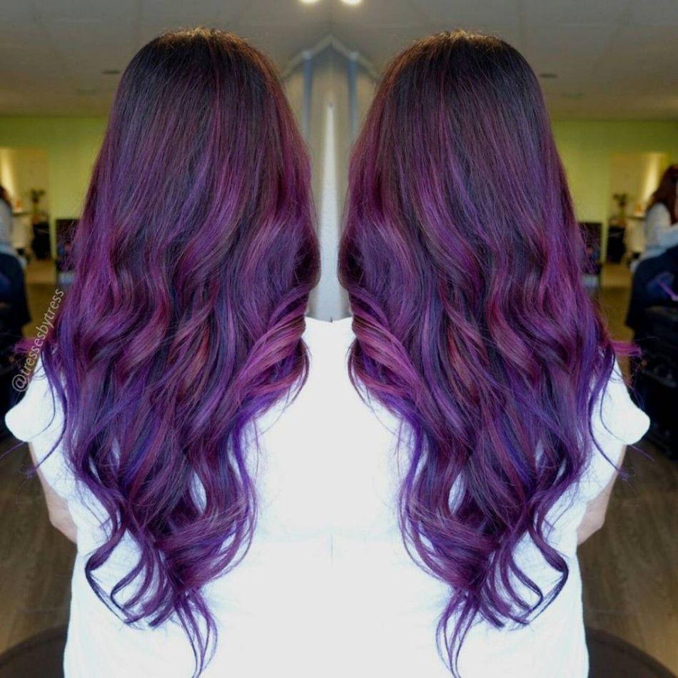 фиолетовые волосы фото на концах строительство зданий