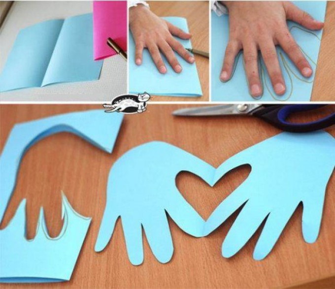 e27daf904674ed615f635214ba69a3f1 Поделка — валентинка своими руками из бумаги, ткани: шаблоны, выкроки. Как сделать красивую валентинку своими руками маме, парню, в школу?